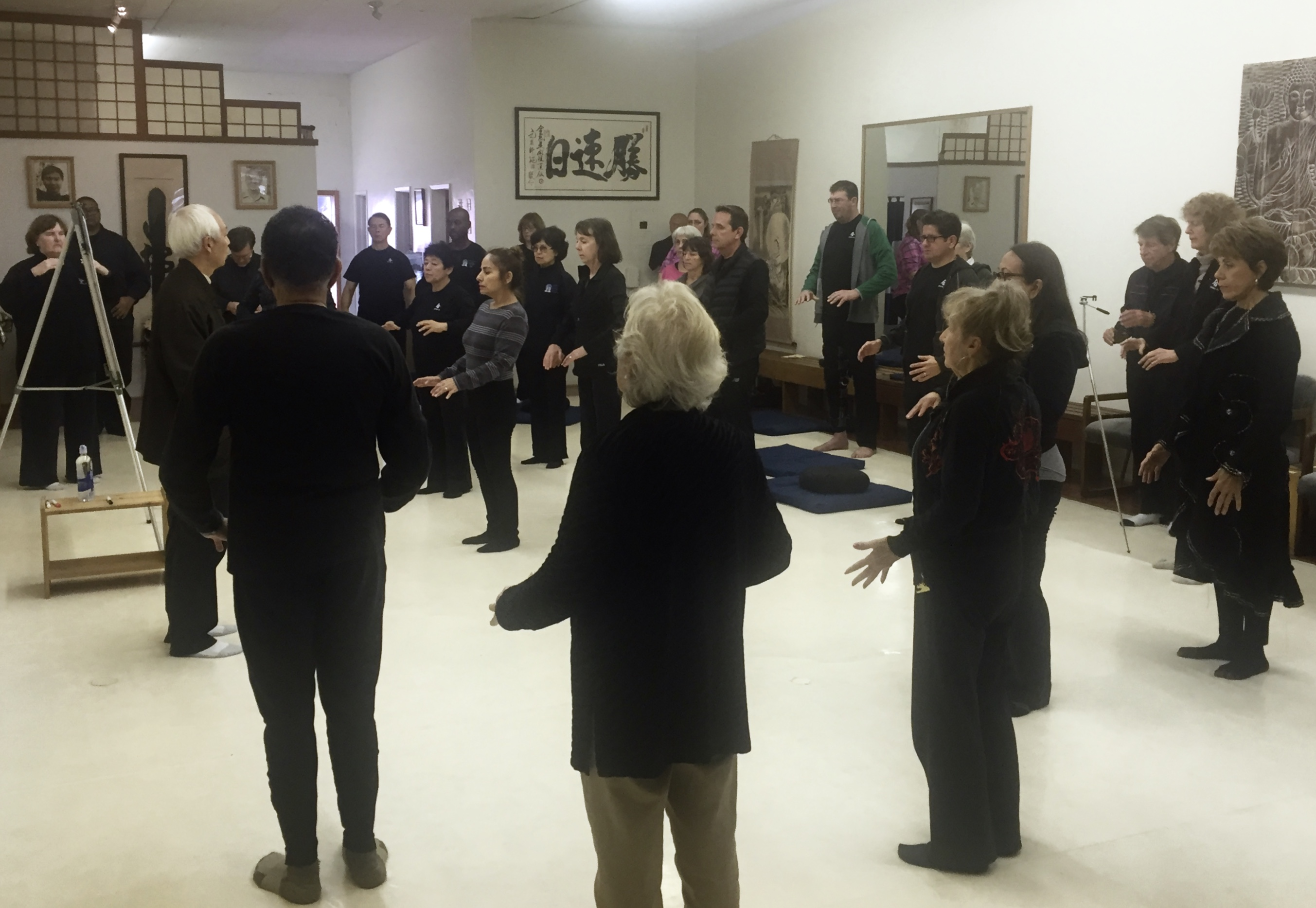 Qigong students in seminar.