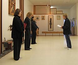 Tai chi instructors Suzette, Jennifer, Linda, and Sensei.