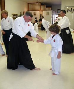 Aikido begins with the first step.