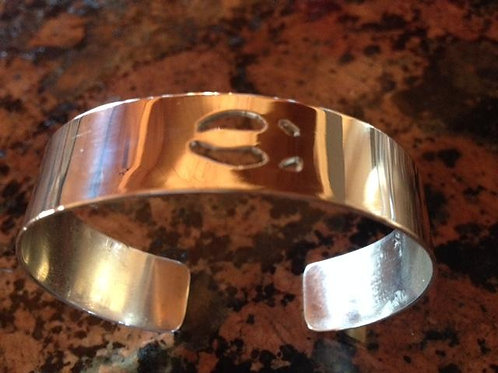 Sterling Silver Cuff with Elk Track (single)