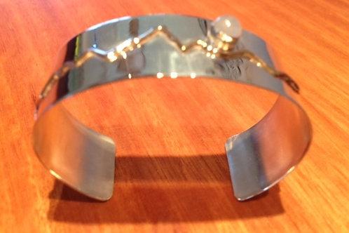 Sterling Silver Teton Bracelet with Moonstone