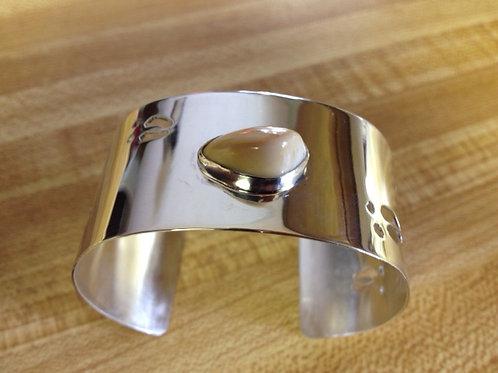 Sterling Silver Elk Ivory and ElkTrack Bracelet