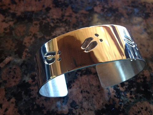 Sterling Silver Elk Track Bracelet