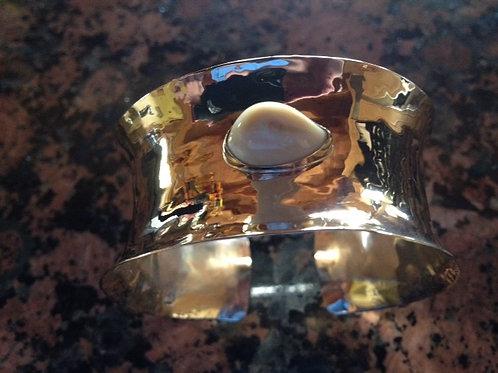 14K Gold and Elk Ivory Bracelet