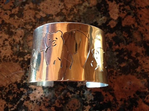 Sterling Silver Mama Bear and Cubs