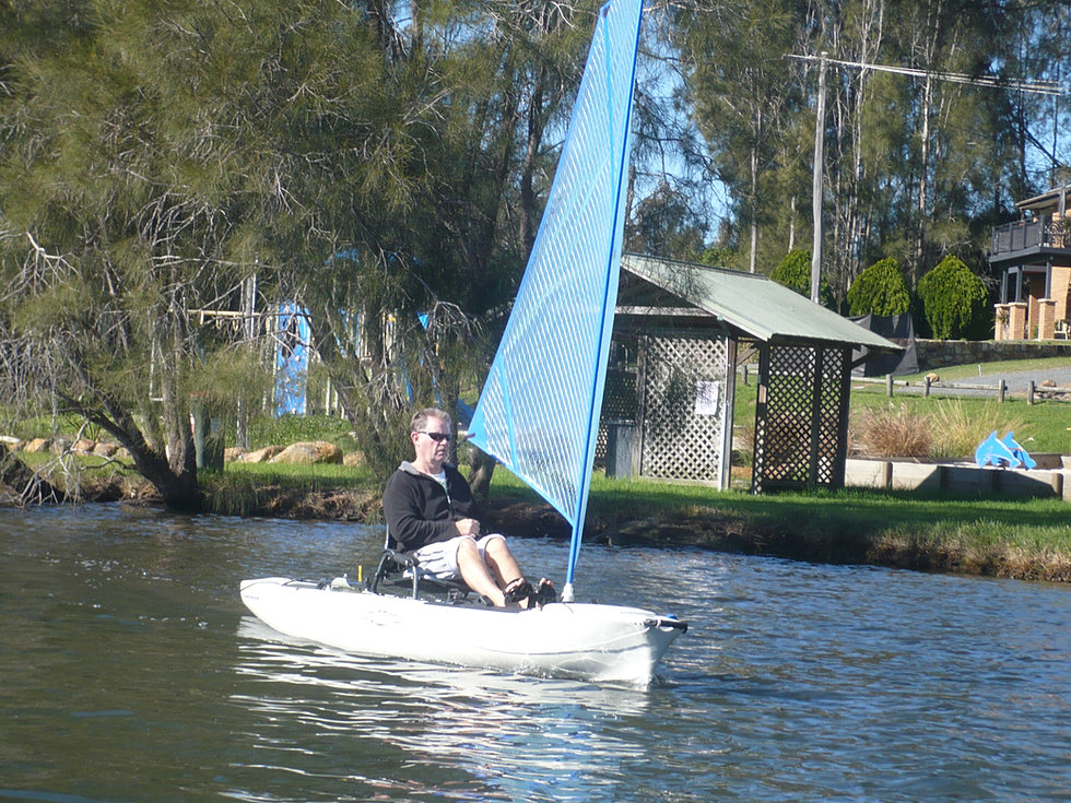 Kayak Sail On Hobie Outback