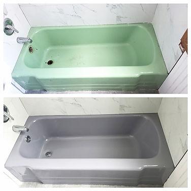 Bathtub re-furbished
