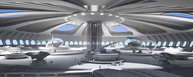 B.A.S.A space port interior