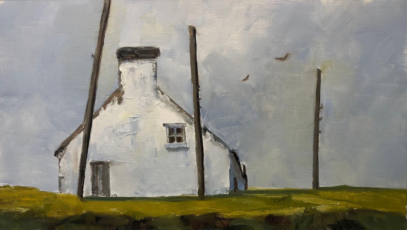 Scottish fishermans hut oil sketch.jpg