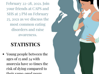 CAPS and SHS to Host WebEx Series on Eating Disorders