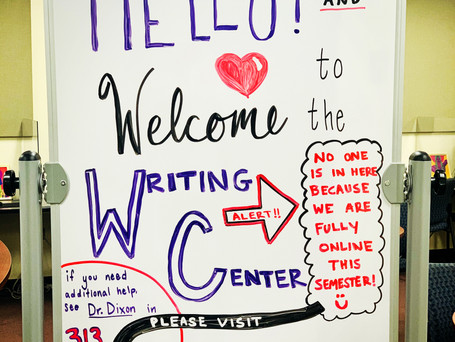 Writing Center Adapts to Pandemic Conditions