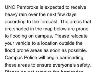 High Rainfall Is Projected to Cause Vehicle Flooding on Campus