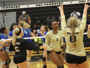 Braves Volleyball Sweep St. Andrews Knights 3-0