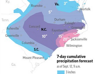 Florence expected to bring extreme rainfall
