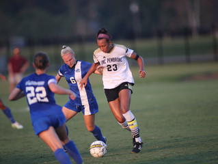 Scott Scores Twice, Collins Gets First Collegiate Goal As Soccer Tames Hurricanes