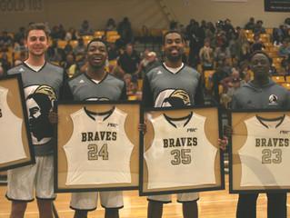 Basketball Beats Saints on Senior Night