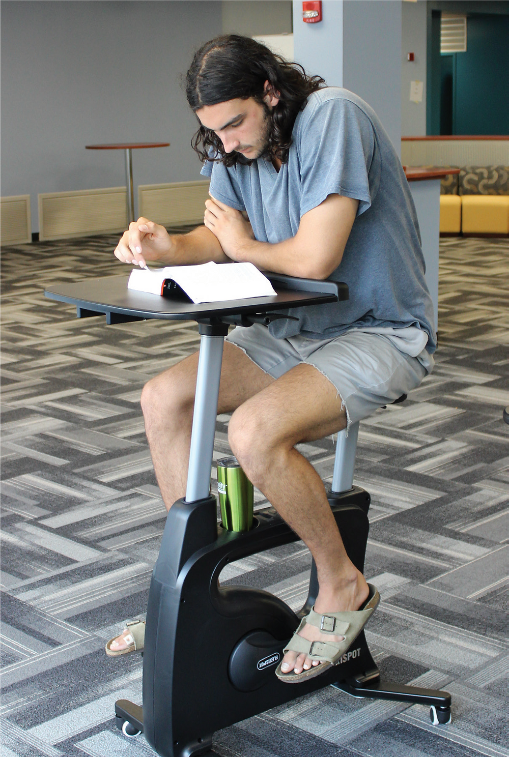 New Stationary Bicycles Included In Library Renovation