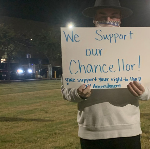 Students Start Counterprotest to Support Chancellor