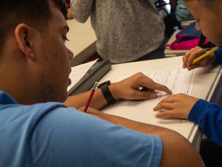 UNCP Volunteers Help Children Read and Write