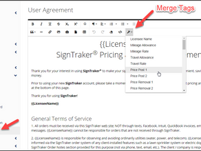 Can We Set (or Edit) Our Own Service Agreement for Our Customers?