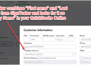 I am using QuickBooks Online. How Does SignTraker Decide How to Match up Customer Records?