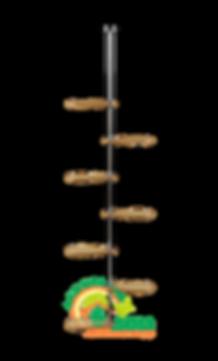 Подставка на подоконник Гортензия-1 Бук