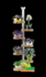 Распорная полка для цветов