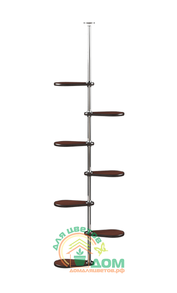 Подставка на подоконник Гортензия-1 Орех