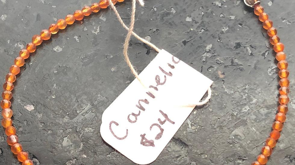 Micro-bead Bracelet--Carnelian!