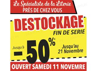 DESTOCKAGE FIN DE SERIE