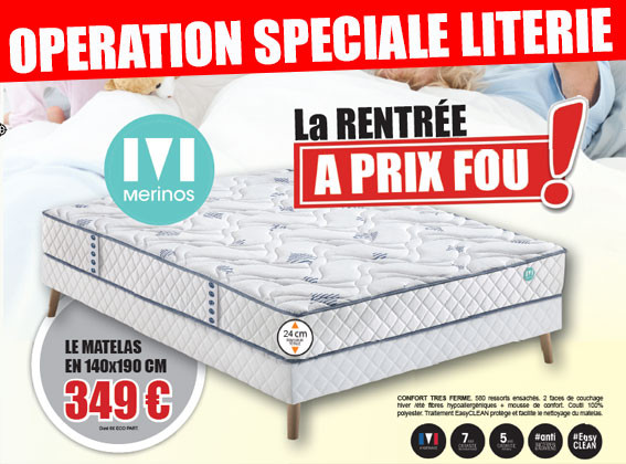 OPERATION SPECIALE LITERIE