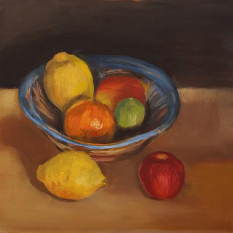 Spanish bowl & fruit