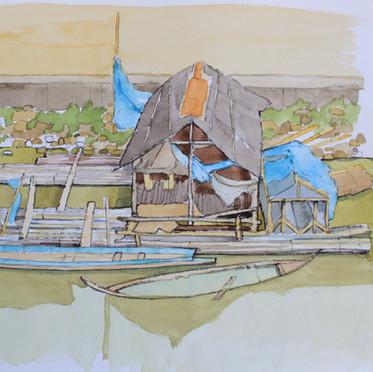 River boats Kwai Thailand