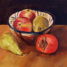Spanish bowl and persimmon