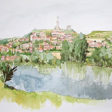 Castelnau DeLevis across the tarn from t