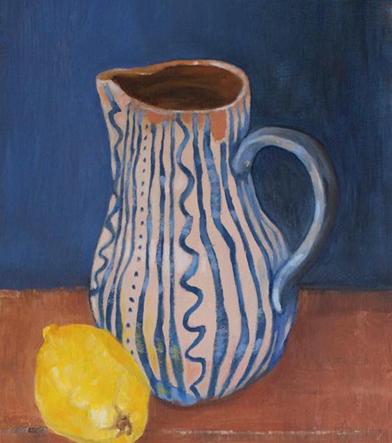 Blue water jug from Nijar