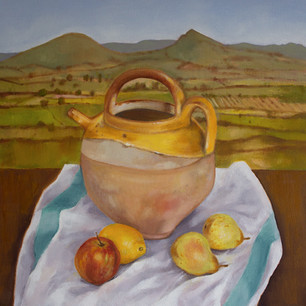 French pot in landscape