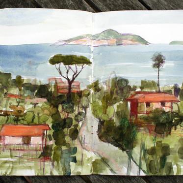 Capri from Sorrento Peninsular