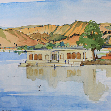 Udaipur lake.