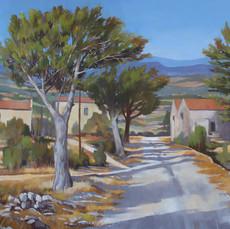 The valley of La Belle Auriole near Opoul, Languedoc