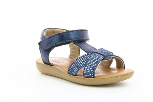 Sandales Aster Bleu Métal