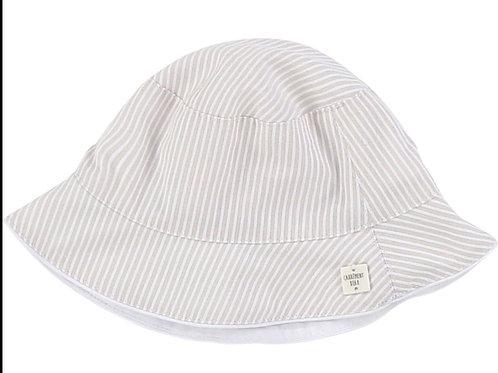 Chapeau beige à rayures Carrément Beau