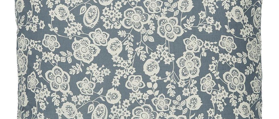 IB LAURSEN   Kissenbezug Blumenmuster blau-creme