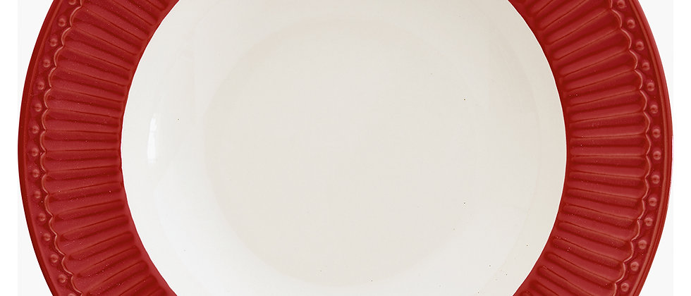 Greengate tiefer Teller 21,5 cm   Alice Red
