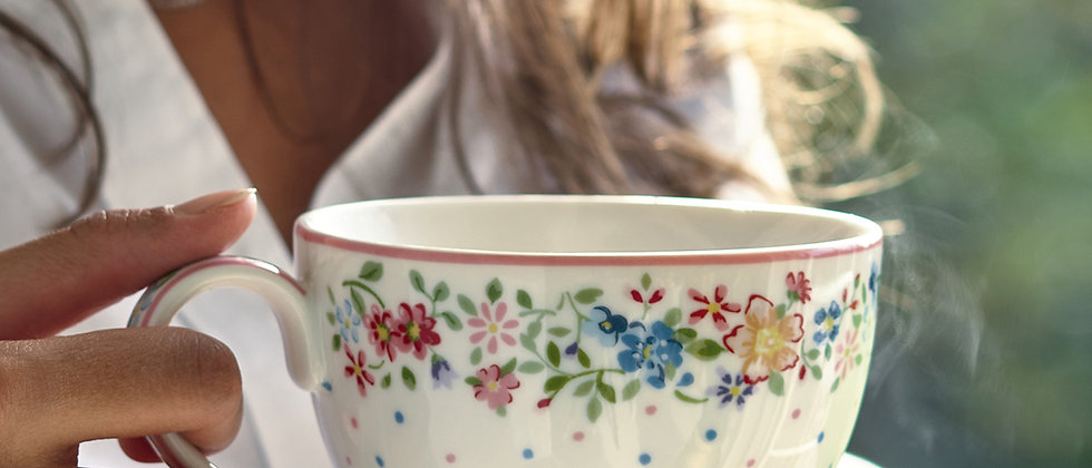 GreenGate Teacup | Belle white