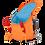 Thumbnail: Affenzahn Kinderrucksack Kleiner Freund Krabbe Neon