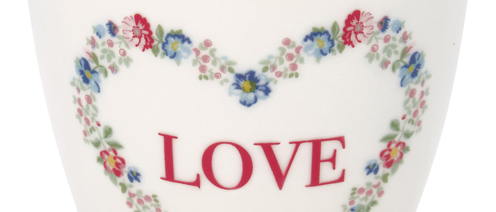 GreenGate Latte Cup | Heart Love White
