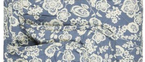 IB LAURSEN | Quilt Blau mit Blumen