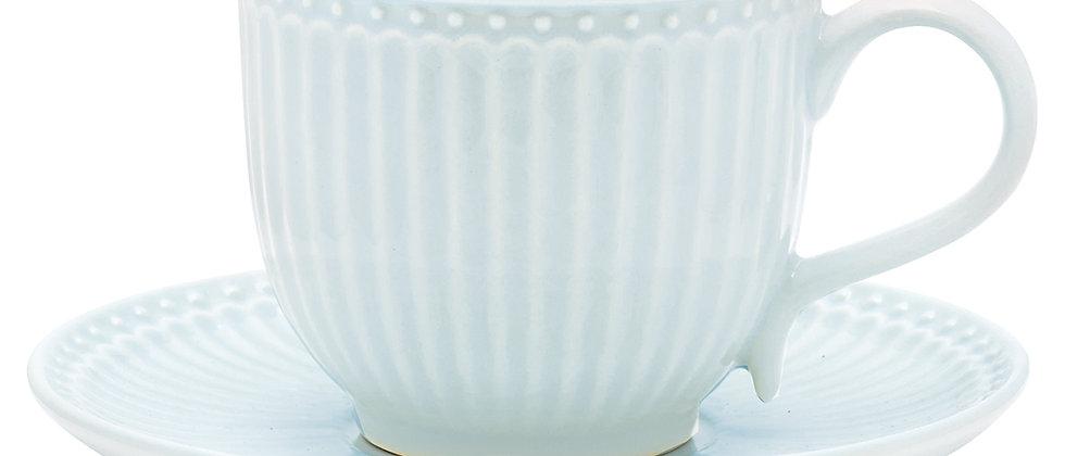 GreenGate Tasse mit Untertasse | Alice Pale Blue
