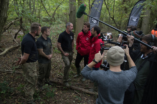 Filming in the woods for GT Academy